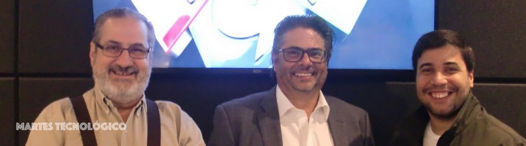 Teo Veras, Miguel Faxas y Arturo López Valerio.