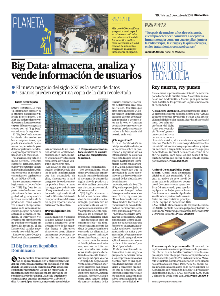 Big Data: almacena, analiza y vende información de usuarios