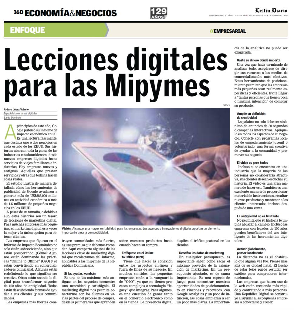 Lecciones Digitales para las MiPyMEs