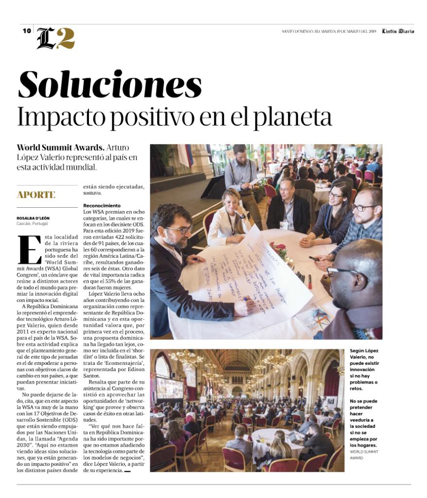 Soluciones. Impacto positivo en el planeta.