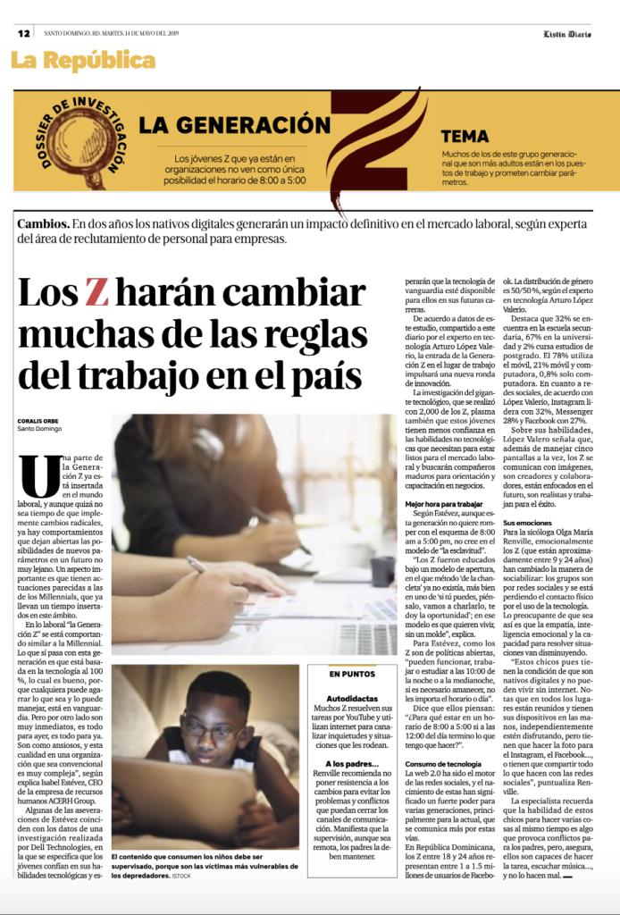 Generación Z, Listín Diario